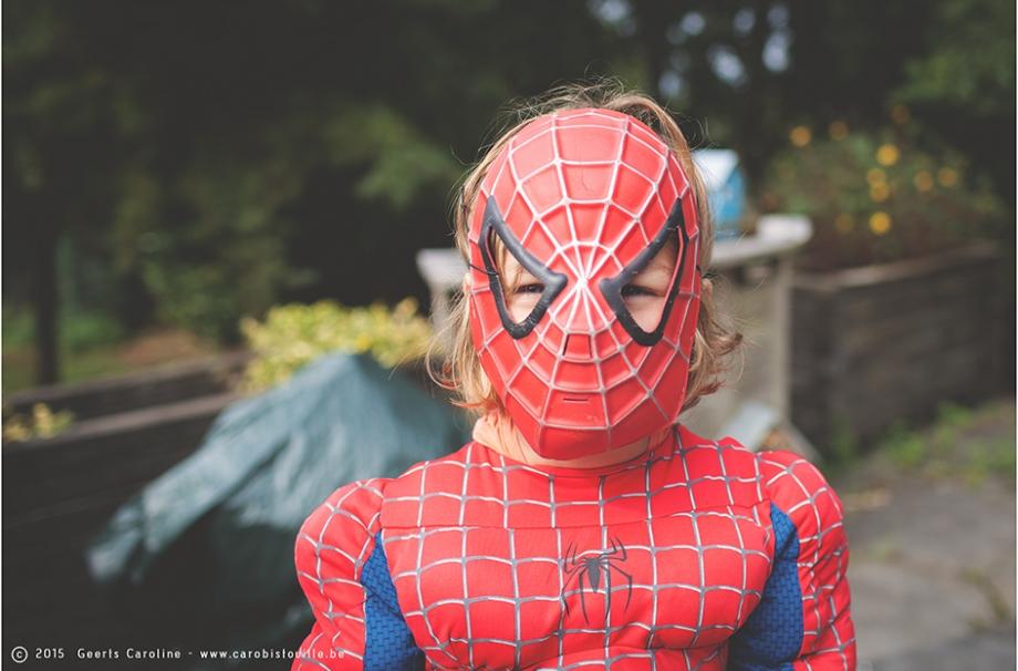 photographie de Spiderman en fille